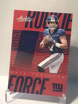 Kyle Lauletta (Giants) 2018 Panini Absolute Rookie Force #RF-KL