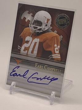 Earl Campbell (Texas/ Oilers) 2008 Press Pass Legends Bowl Edition Semester Signatures Autograph #SS-EC