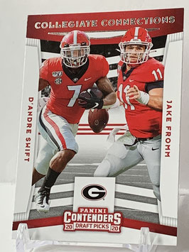 D'Andre Swift/ Jake Fromm (Georgia/ Bills) 2020 Contenders Collegiate Connections #11