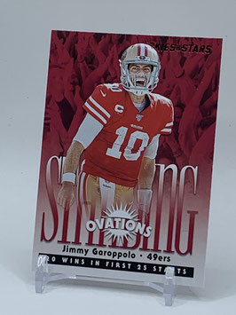 Jimmy Garoppolo (49ers) 2020 Rookies & Stars Standing Ovations #SO-10