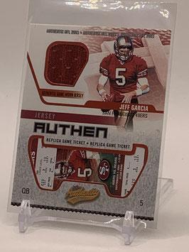 Jeff Garcia (49ers) 2003 Fleer Authentix Ticket Ripped #JA-JG