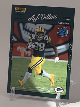 AJ Dillon (Packers) 2020 Panini Instant Rated Rookie #RR26