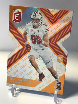 Troy Fumagalli (Wisconsin/ Broncos) 2018 Panini Elite Draft Picks Status Orange Die-Cut Variation #138