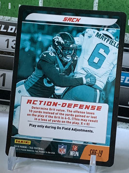 Action Defense: Von Miller (Broncos) 2019 Panini Five TCG #S86