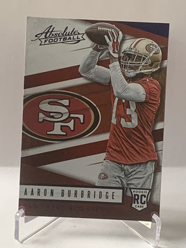 Aaron Burbridge (49ers) 2016 Panini Absolute Spectrum Blue #166