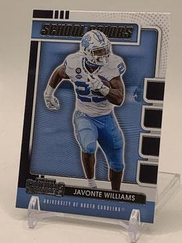 Javonte Williams (North Carolina/ Broncos) 2021 Contenders School Colors #22