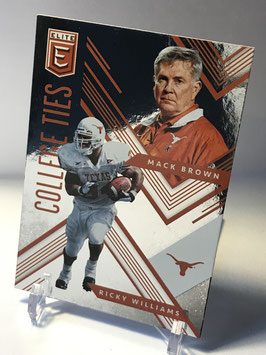 Mack Brown/ Ricky Williams (Texas) 2018 Panini Elite Draft Picks College Ties #4