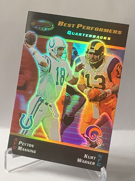 Peyton Manning/ Kurt Warner (Colts/ Rams) 2000 Bowman's Best #100