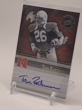 Tom Rathman (Nebraska/ 49ers) 2008 Press Pass Legends Bowl Edition Semester Signatures Autograph #SS-TR