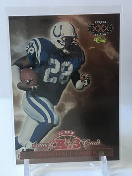 Marshall Faulk (Colts) 1996 Classic NFL Experience Super Bowl Interactive Game Cards #AFC3