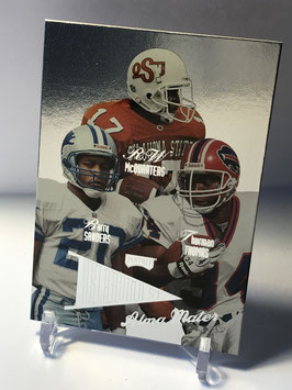 R.W. McQuarters/ Barry Sanders/ Thurman Thomas (Oklahoma State/ Bills/ Lions/ 49ers) 1998 Playoff Prestige Alma Maters #7