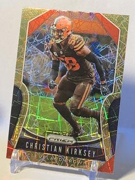Christian Kirksey (Browns) 2019 Prizm Gold Lazer Prizm #92
