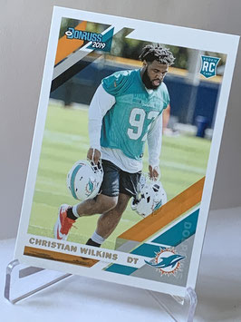 Christian Wilkins (Dolphins) 2019 Donruss #255