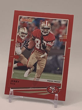 Jerry Rice (49ers) 2020 Donruss Press Proof Red #18