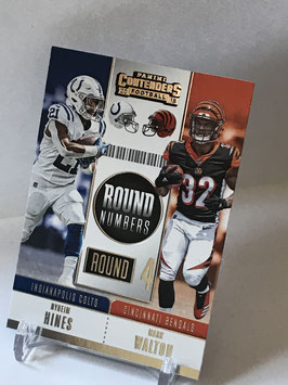 Nyheim Hynes/ Mark Walton (Colts/ Bengals) 2018 Contenders Round Numbers #RNA-HW
