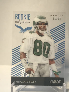 Cris Carter (Eagles) 2015 Panini Clear Vision Rookie Revision Blue #86