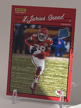 L'Jarius Sneed (Chiefs) 2020 Panini Instant Rated Rookie #RR44