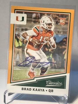 Brad Kaaya (Miami/ Lions) 2017 Classics Rookie Autograph Gold #206