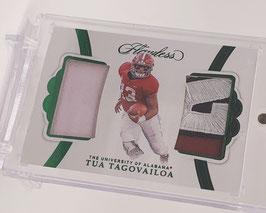 Tua Tagovailoa (Alabama/ Dolphins) 2020 Flawless Collegiate Emerald Jersey Patch #3
