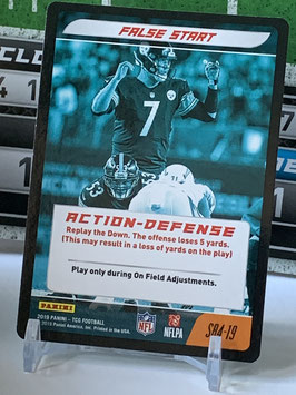 Action Defense: Ben Roethlisberger (Steelers) 2019 Panini Five TCG #S84