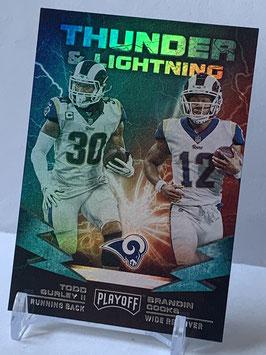 Todd Gurley II/ Brandin Cooks (Rams) 2019 Playoff Thunder & Lightning #6