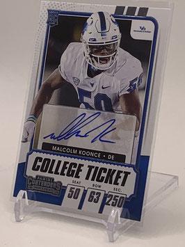 Malcolm Koonce (U Buffalo/ Raiders) 2021 Contenders Draft Picks College Ticket #292