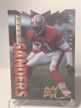 Deion Sanders (49ers) 1995 Collector's Edge 22K Gold Die Cut #178