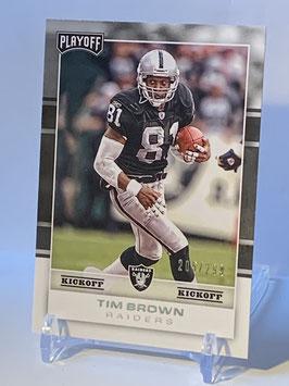 Tim Brown (Raiders) 2017 Playoff Kickoff #197