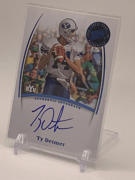TY Detmer (BYU/ Eagles) 2007 Press Pass Legends Autograph #NNo