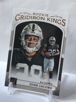 Josh Jacobs (Raiders) 2019 Donruss Rookie Gridiron Kings #RGK-8
