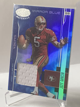 Jeff Garcia (49ers) 2003 Leaf Certified Materials Mirror Blue Materials #113