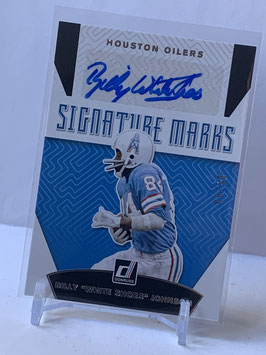 "Billy ""White Shoes"" Johnson (Oilers/ Titans) 2019 Donruss Signature Marks Silver #SM-23"