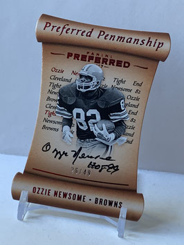 Ozzie Newsome (Browns) 2017 Preferred Preferred Penmanship Red #125