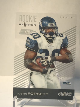 Justin Forsett (Seahawks) 2015 Panini Clear Vision Rookie Revision #100