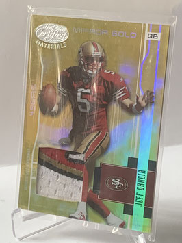 Jeff Garcia (49ers) 2003 Leaf Certified Materials Mirror Gold Materials #113