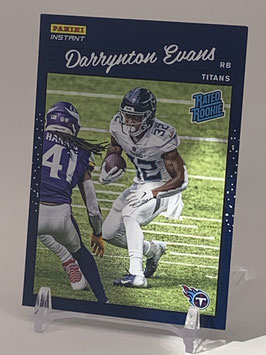 Darrynton Evans (Titans) 2020 Panini Instant Rated Rookie #RR33