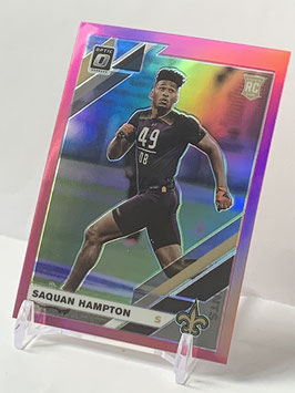 Saquan Hampton (Saints) 2019 Donruss Optic Pink Prizm #138