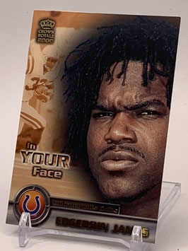 Edgerrin James (Colts) 2000 Pacific Crown Royale In Your Face #10