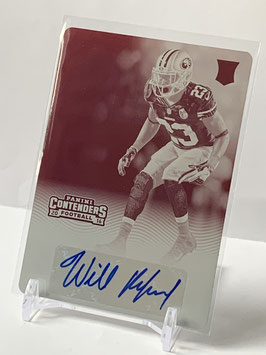 Will Redmond (49ers) 2016 Contenders Printing Plate Magenta #164