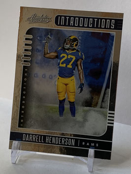 Darrell Henderson (Rams) 2019 Absolute Introductions #4
