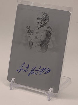 Justin Houston (Chiefs) 2014 National Treasures Signatures Printing Plate #S-JH