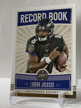 Lamar Jackson (Ravens) 2020 Legacy Record Book #RB-LJ