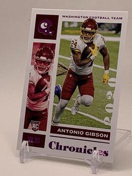 Antonio Gibson (WFT) 2020 Chronicles Pink #100