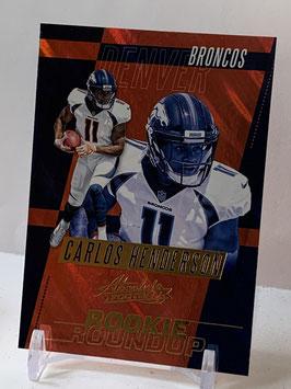 Carlos Henderson (Broncos) 2017 Absolute Rookie Roundup #12