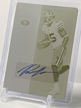 Pierre Garcon (49ers) 2018 Rookies & Stars 2017 Contenders Ticket Printing Plate Autograph #57