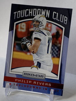 Philip Rivers (Chargers) 2018 Rookies & Stars Touchdown Club #TD-5