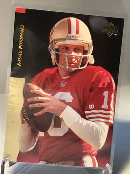 Joe Montana (49ers) 1995 Upper Deck Joe Montana Box Set #25