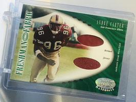 Andre Carter (49ers) 2001 Certified Freshman Fabric Double Jersey/ Helmet #143