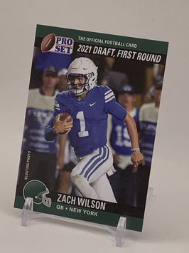 Zach Wilson II (BYU/Jets) 2021 Leaf Pro Set Draft Day #PSDD2