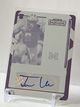 Josh Uche (Patriots) 2020 Contenders Draft Rookie Ticket Autograph Printing Plate #248